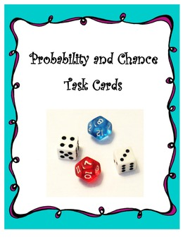 Probability and Chance Task Cards