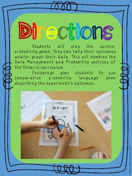 Probability and Data Management (Graphing) Activities for Primary Mathematics