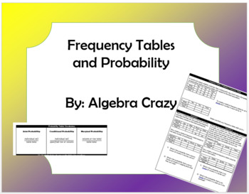 Probability and Frequency Tables (two way tables)