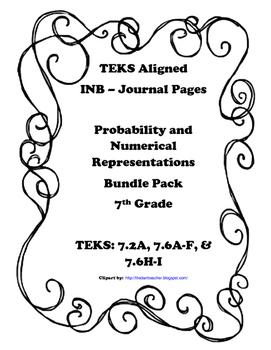Probability and Numerical Representations INB Bundle Pack - 7th Grade TEKS
