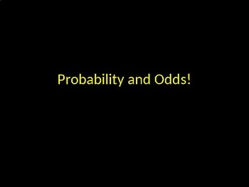 Probability and Odds PowerPoint Game Activity