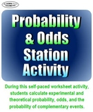 Probability and Odds Self-Paced Station Activity - Distanc