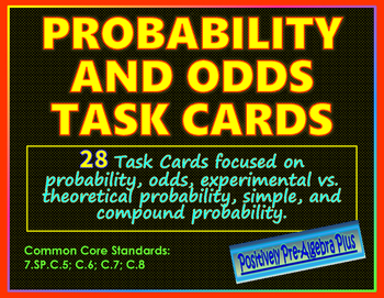 Probability and Odds Task Cards