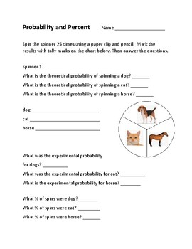 Probability and Percent Activity