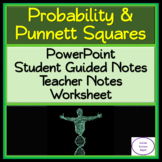Probability and Punnett Squares PowerPoint, Student Guided Notes and Worksheet