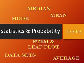Probability and Statistics: Average, Mean, Median, and Mode