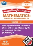 Probability and Statistics: Chance 3 �