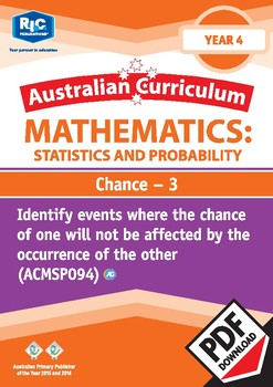 Probability and Statistics: Chance 3 – Year 4