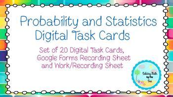 Probability and Statistics Digital Task Cards