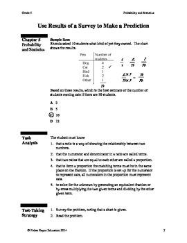 Probability and Statistics, Grade 5 Math