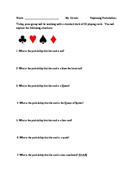 Probability and Statistics: Playing Cards