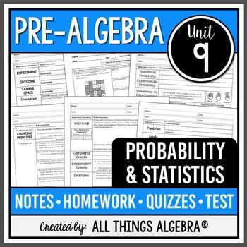 Probability and Statistics (Pre-Algebra - Unit 9)