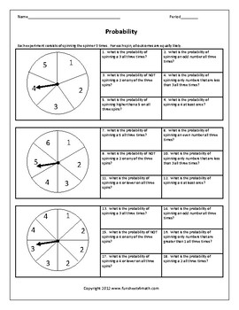 Probability Worksheet Bundle