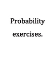 Probability exercises. answers. Mutually exclusive events