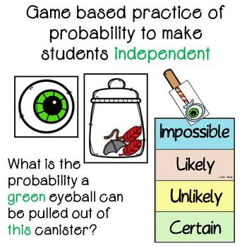 Probability Game for 1st and 2nd grade