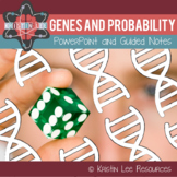 Genes and Probability PPT w/ Guided Notes and Punnett Square Worksheet