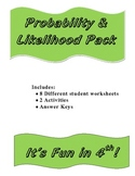 Probability lessons, Worksheets, and Activity Pack.