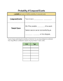probability of compound events notes worksheets teaching resources tpt. Black Bedroom Furniture Sets. Home Design Ideas