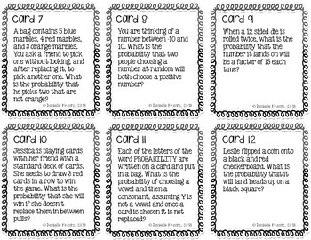 Probability of Compound Events Task Cards 7.SP