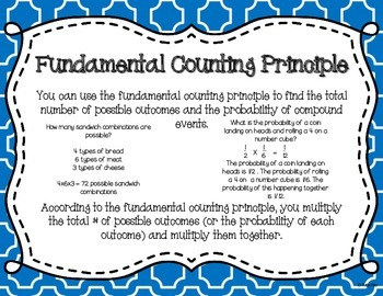 Probability of Compound Events Task Cards and Poster Set 7.SP.8