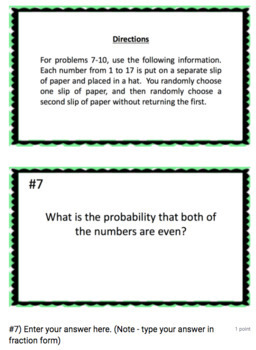 Probability of Dependent Events - Google Form & Video Lesson!
