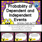 Probability of Dependent and Independent Events Boom Cards--Digital Task Cards