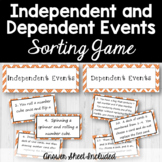 Probability of Independent and Dependent Events Sorting Game