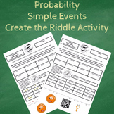 Probability of Simple Events Create the Riddle Activity