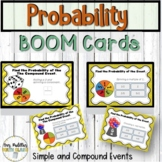 Probability of Simple and Compound Events Boom Cards | #math123