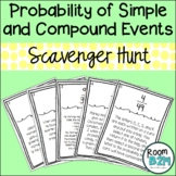 Probability of Simple and Compound Events Scavenger Hunt (TEKS 7.6I)