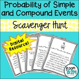Probability of Simple and Compound Events Distance Scavenger Hunt (TEKS 7.6I)