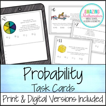 Probability of Simple and Compound Events - Task Cards