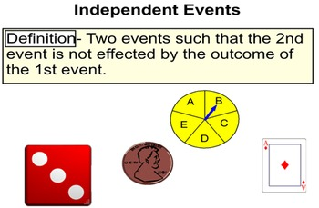Probability of a Single Event, Independent & Dependent Events for Power Point