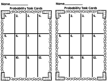 Probability on a Number Line-SOL 4.13