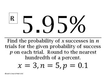 Probability using the Binomial Distribution Around the World Activity