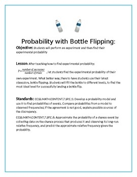 Probability with Bottle Flipping