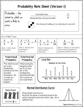 Probability with Dice - Theoretical and Experimental Probability Activity