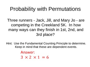 Probability with Permutation PowerPoint