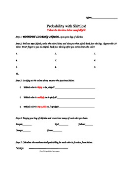 Probability with Skittles