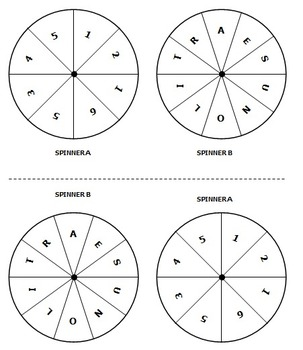 Probability with Spinners (Differentiated Assignment)