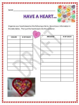 Probability with Valentine conversation candy hearts