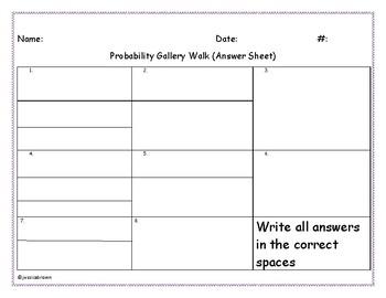 Probabilty Gallery Walk