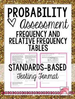 Probablity - Two Way Tables - Standards Based Assessment 8.SP.A.4 Go Math