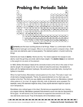 Probing the Periodic Table