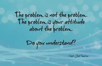 Problem Attitude 11 x 17 Poster Classroom Management PBIS Character Ed