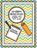 Problem Detectives: Weekly Word Problems for First Grade {