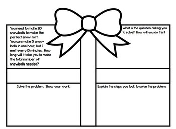 Word Problem Presents - A December Math Craftivity