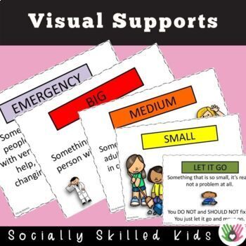 SOCIAL SKILLS: Problem Size Scales and Activity {Differentiated For k-5th}