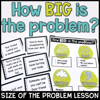 How Big is the Problem Weather themed lesson plan and sort cards found on TpT