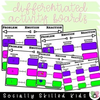 SOCIAL SKILLS: Everyday Problems~ Sizes, Emotions, Reactions